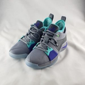 Nike PG 2.0 pure plat/ turquoise - size U.S. 7y